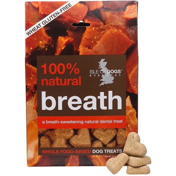 Isle of Dogs Whole Food-Based Breath Dog Treats With Sweet Milk and Toffee Flavor