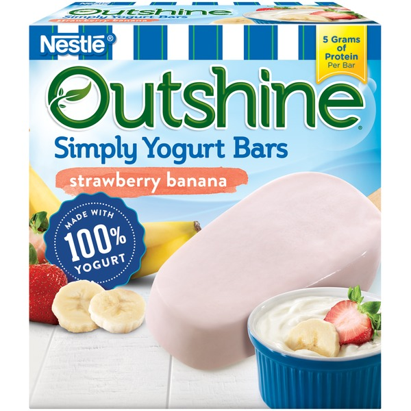 Outshine Strawberry Banana Simply Yogurt Bars