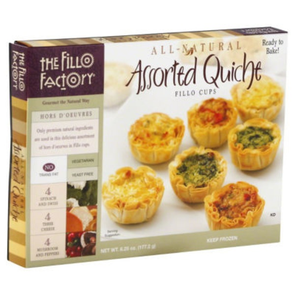 The Fillo Factory Assorted Quiche Fillo Cups - 12 CT