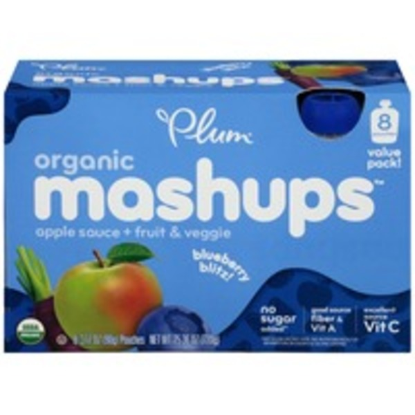 Plum Organics Mashups Fruit & Veggie Blueberry Blitz Apple Sauce