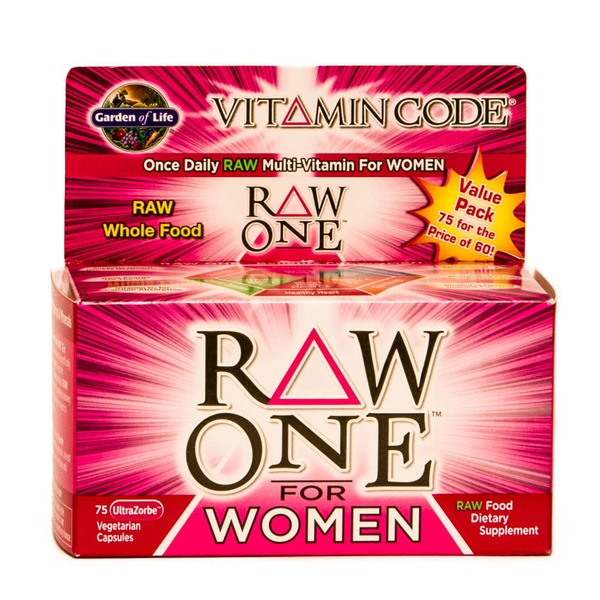 Garden of Life Vitamin Code Raw One For Women Vegetarian Capsules
