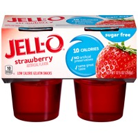 Jell O Ready To Eat Sugar Free Strawberry Low Calorie Gelatin Snacks