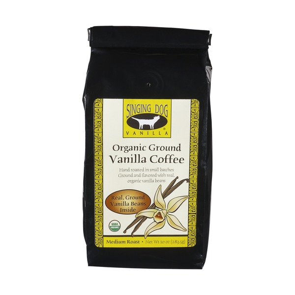 Singing Dog Vanilla Organic Ground Medium Roast Vanilla Coffee