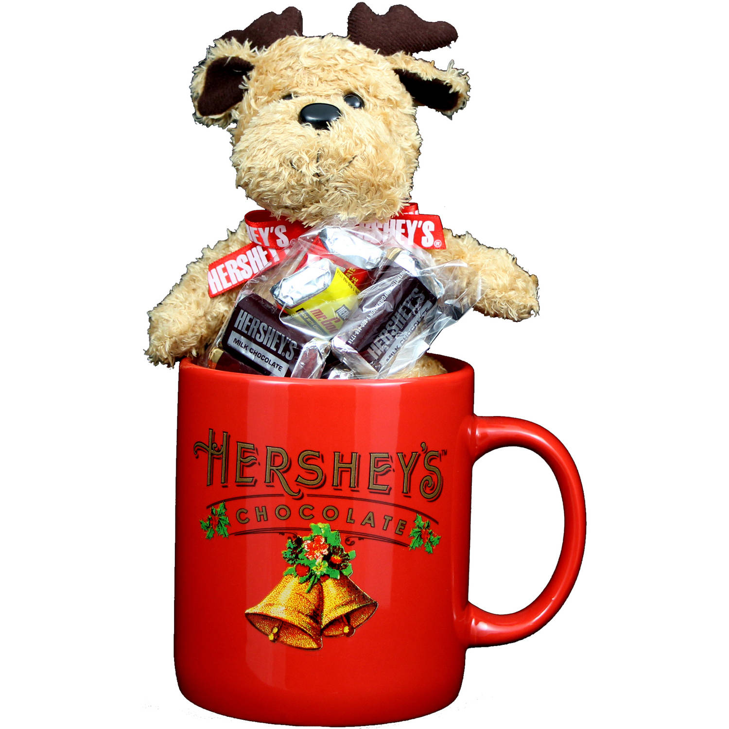 Galerie Hershey's Red Jumbo Mug with Plush and Milk Chocolate Candy