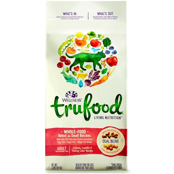 Wellness Tru Food Salmon Lentils & Turkey Liver Adult Cat Food 2 Lbs.