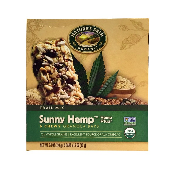Nature's Path Sunny Hemp Plus Granola Bars