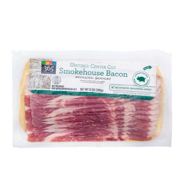 365 Low Sodium Smokehouse Bacon