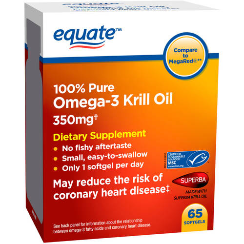 Equate Omega-3 Krill Oil Dietary Supplement Softgels