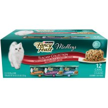 Purina Fancy Feast Medleys Tuscany Wet Cat Food Variety Pack - (12) 2.25 lb. Cans