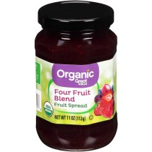 Great Value Organic Four Fruit Blend Fruit Spread, 11 oz