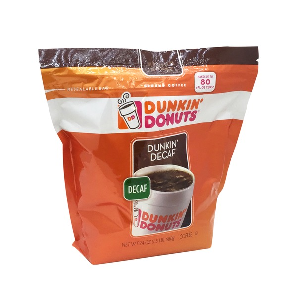 Dunkin' Donuts Coffee, Ground, Medium Roast, Dunkin' Decaf