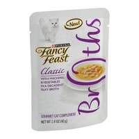 Fancy Feast Broths Classic with Mackerel & Vegetables Cat Food