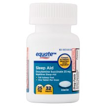 Equate Sleep Aid Doxylamine Succinate Tablets, 25 mg, 32 Ct