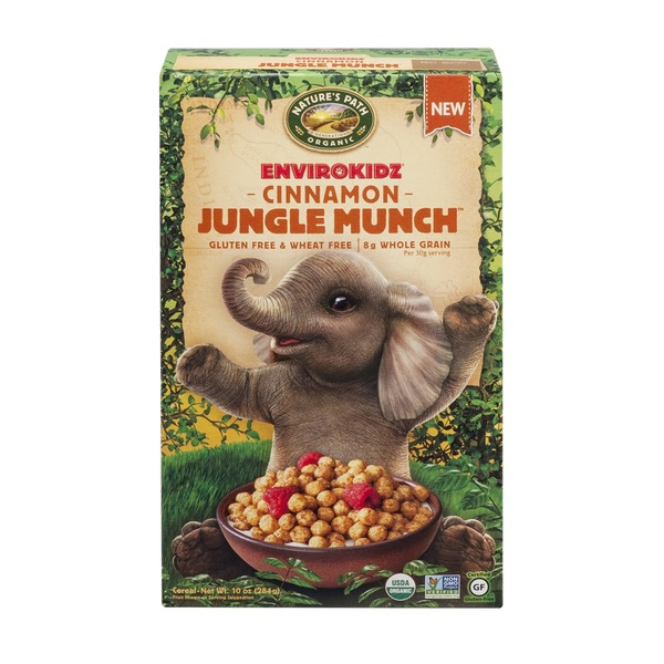 Nature's Path Organic Envirokidz Gluten & Wheat Free Cereal Cinnamon Jungle Munch