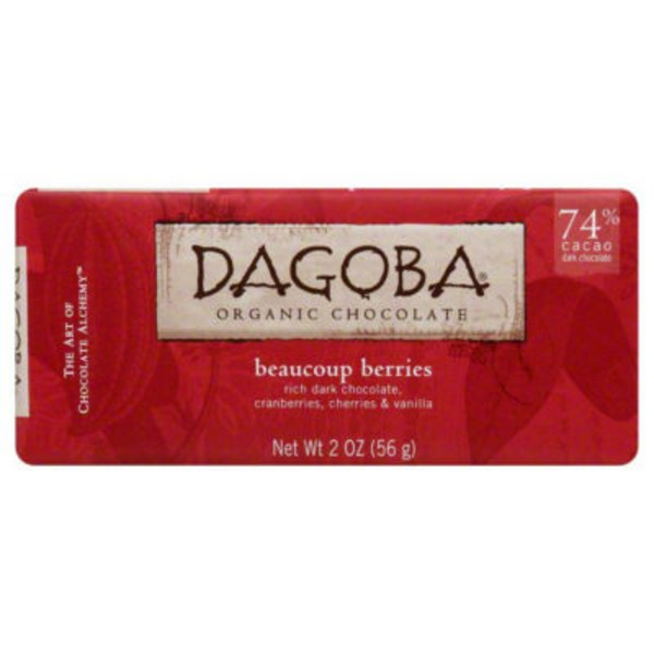 Dagoba Chocolate, Organic, Beaucoup Berries