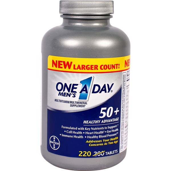 One A Day Men's 50+ Healthy Advantage Tablets Multivitamin/Multimineral Supplement