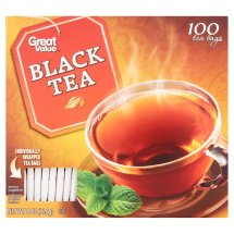 Great Value Black Tea Bags, 8 oz, 100 Count