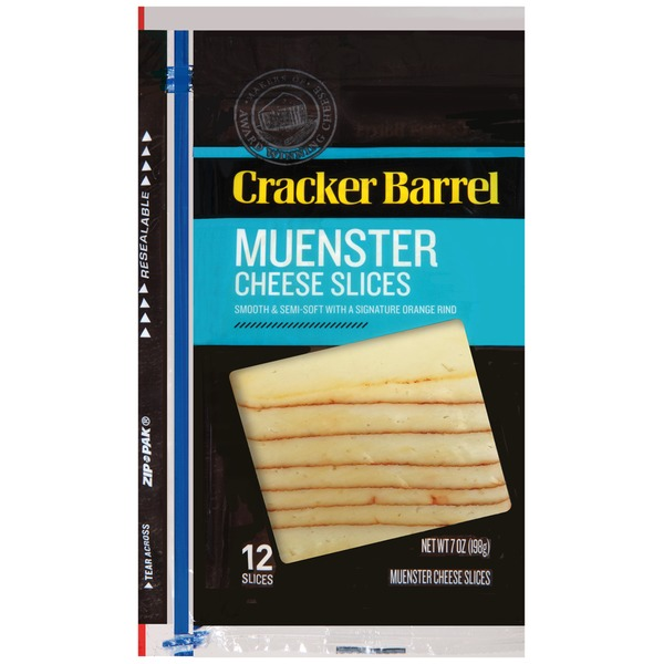 Cracker Barrel Muenster Slices Cheese