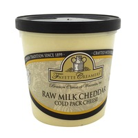 Fayette Creamery Raw Milk Cheddar Cold Pack Cheese