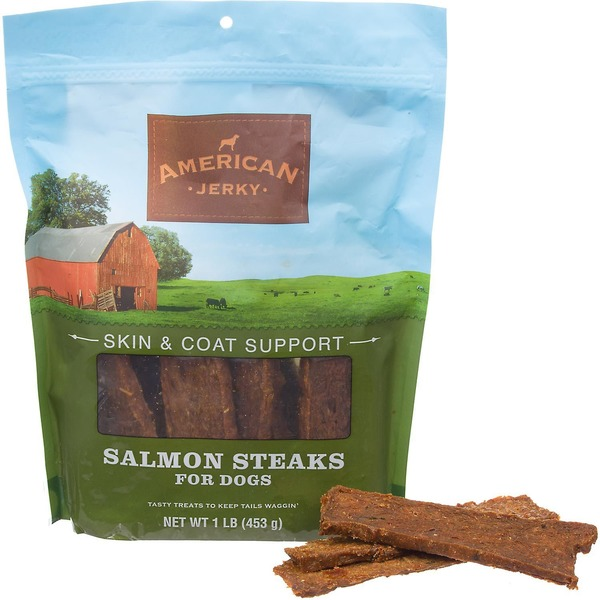 American Jerky Skin & Coat Support Salmon Steaks Dog Treats