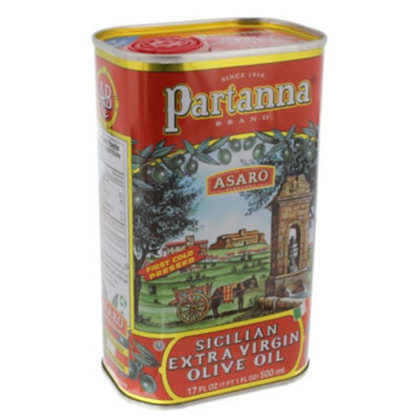 Partanna Sicilian Extra Virgin Olive Oil Tin