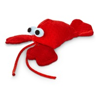 Leaps & Bounds Lobster With Catnip Cat Toy 4.5