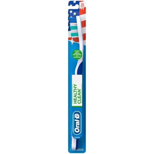 Oral-B Healthy Clean Oral-B Healthy Clean Medium Toothbrush 1 Count  Manual Oral Care