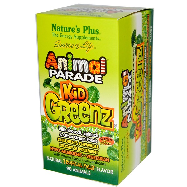 Nature's Plus Animal Parade Kidgreenz Children's Chewable Tablets