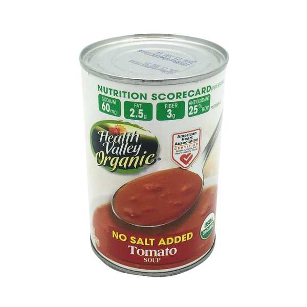 Health Valley Organic No Salt Added Tomato Soup