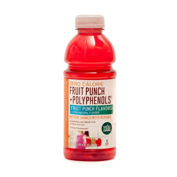 Whole Foods Market Fruit Punch Plus Polyphenols Enhanced Water