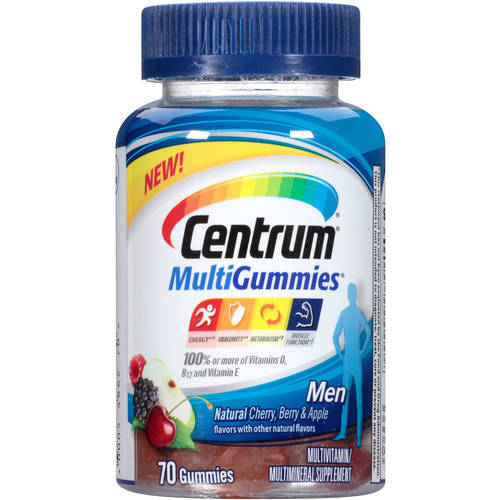 Centrum MultiGummies Multivitamin/Multimineral Supplement Men