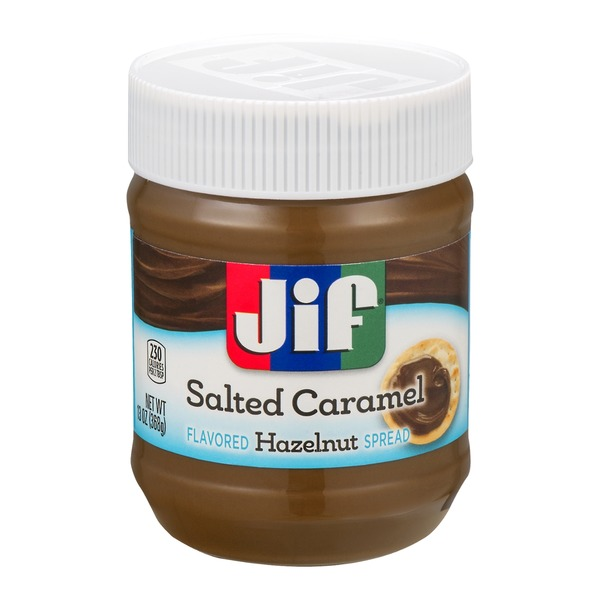 Jif Flavored Hazelnut Spread Salted Caramel