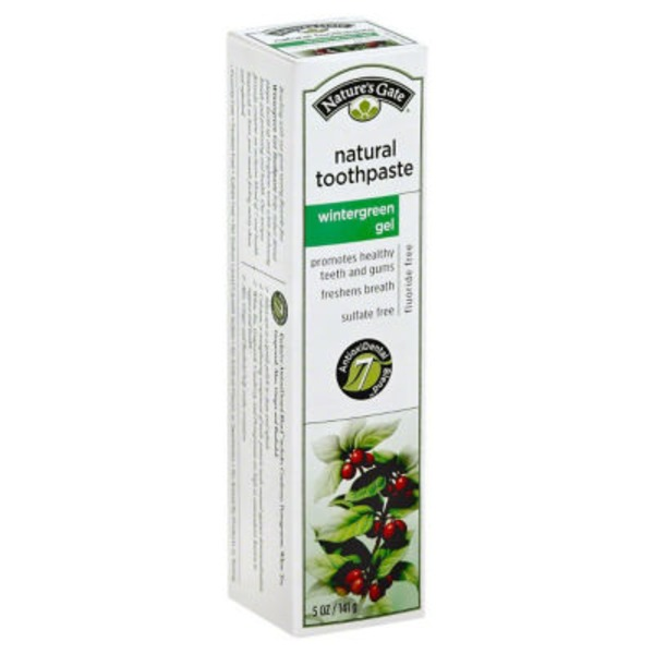 Nature's Gate Toothpaste Wintergreen Gel