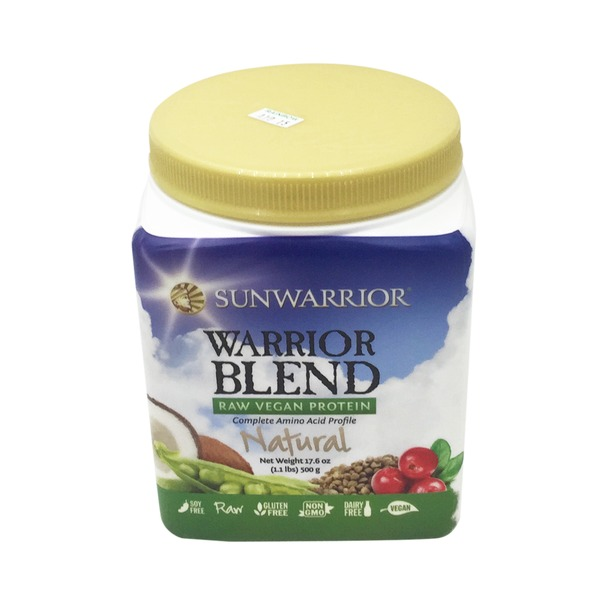 Sunwarrior Natural Flavor Warrior Blend Raw Vegan Protein