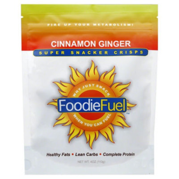 Foodiefuel Super Snacker Crisps, Cinnamon Ginger, Bag