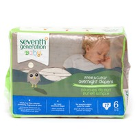 Seventh Generation Baby Overnight Stage 6 35+ lbs Diapers