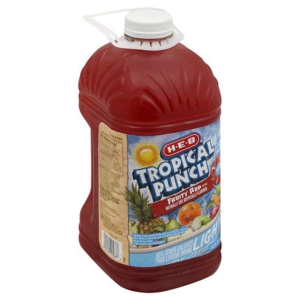 H-E-B Tropical Punch Fruity Red Fruit Drink