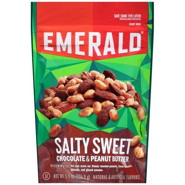 Emerald Cove Salty Sweet Chocolate & Peanut Butter Mixed Nuts