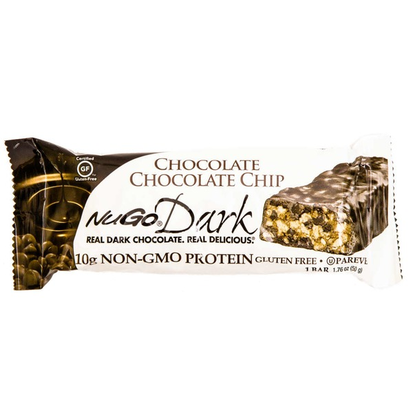 NuGo Dark Gluten Free Vegan Chocolate Chocolate Chip Protein Bar