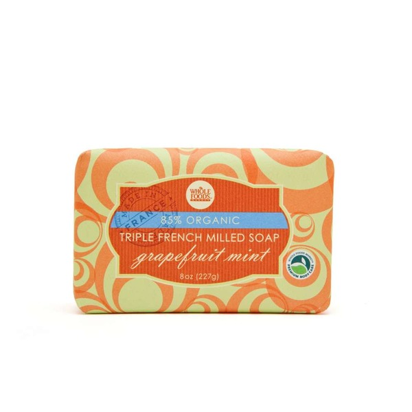 Whole Foods Market Grapefruit Mint Organic Triple French Milled Bar Soap