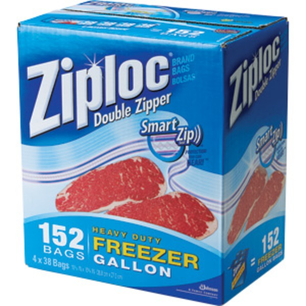 Ziploc Freezer  Gallon Bags,  152 ct WAREHOUSE CLUB