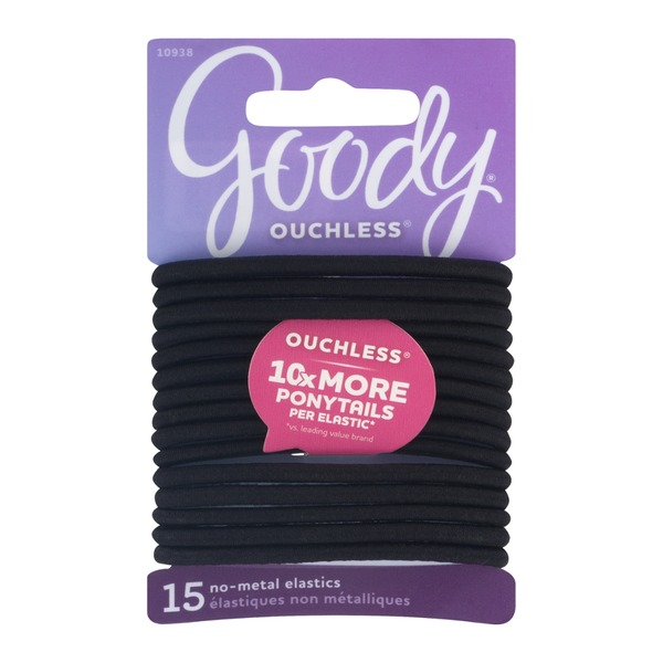 Goody Ouchless No-Metal Elastics - 15 CT