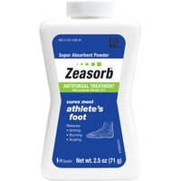 Zeasorb Super Absorbent Powder Athlete's Foot Antifungal Treatment