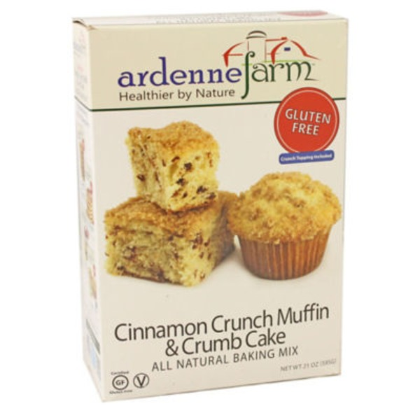 Ardenne Farm Gluten Free Cinnamon Crunch Muffin & Crumb Cake All Natural Baking Mix