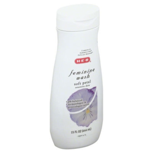 H-E-B Soft Petal Sensitive Skin Feminine Wash
