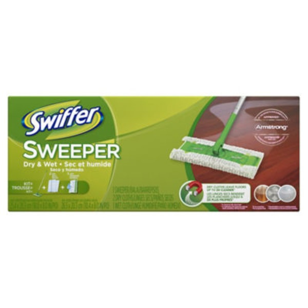 Swiffer Sweeper Dry and Wet Mop 11 Pcs Sweeping Kit