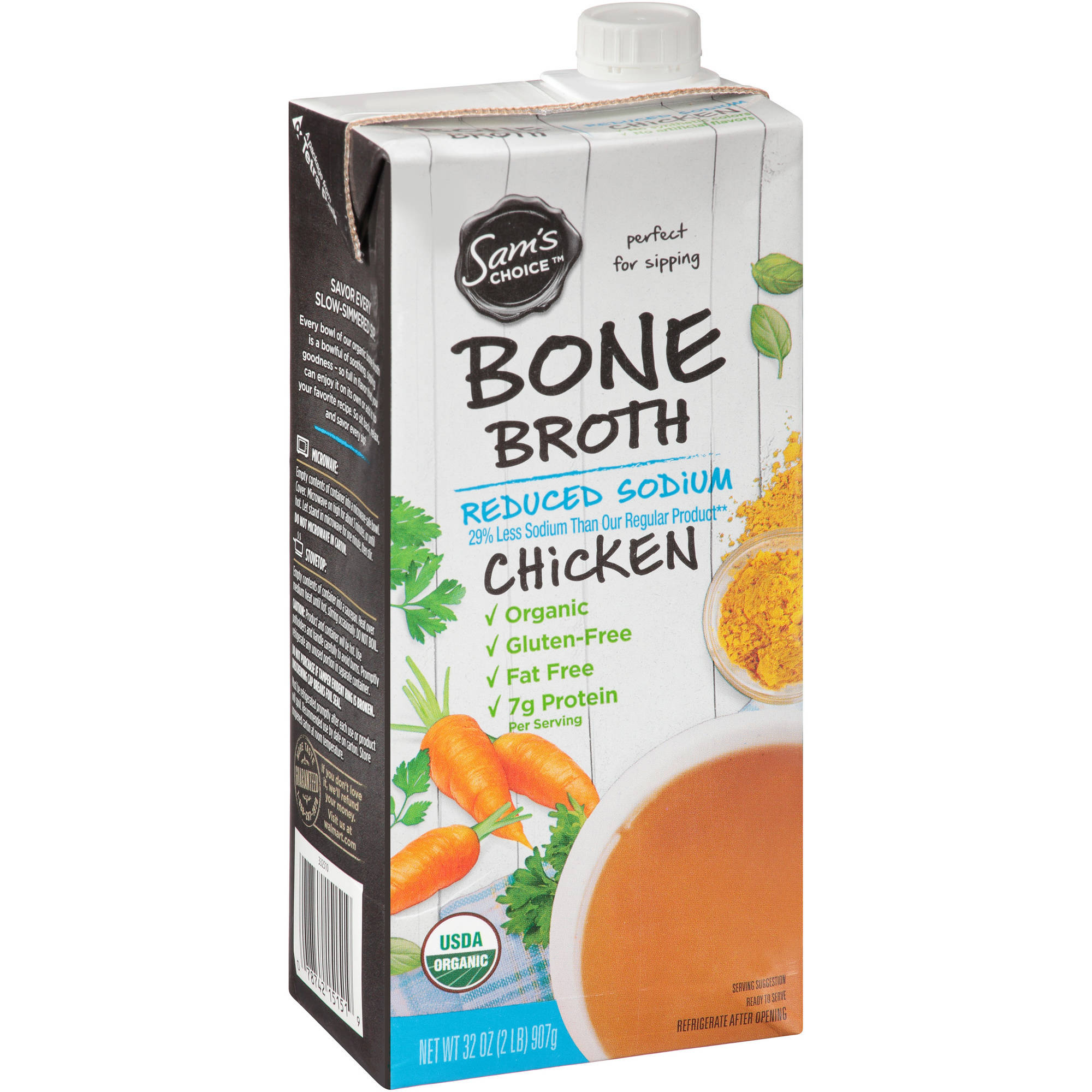 Sam's Choice Chicken Bone Broth Reduced Sodium