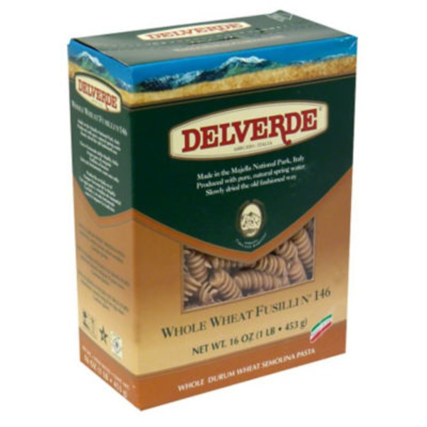 Delverde Whole Wheat Fusilli