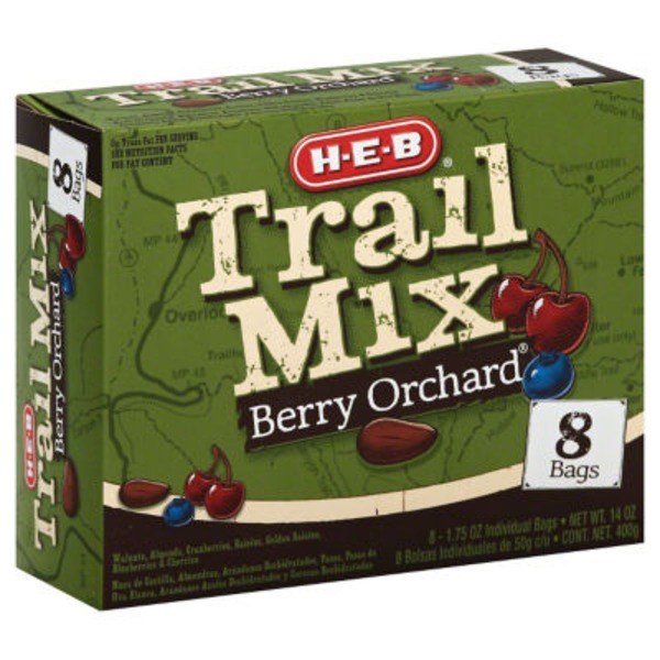H-E-B Trail Mix, Berry Orchard Multipack