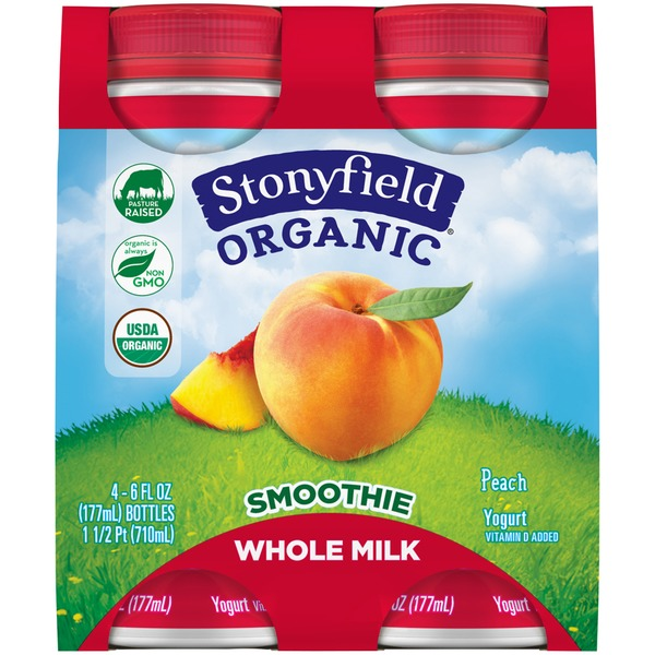 Stonyfield Organic Organic Peach Whole Milk Smoothie